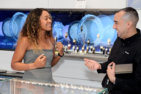 Naomi Osaka Visits Citizen Watch Flagship Store In New York City